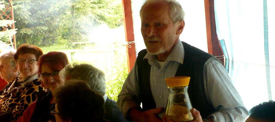 Tadeusz Piwowarczyk na spotkaniu w Jamielniku