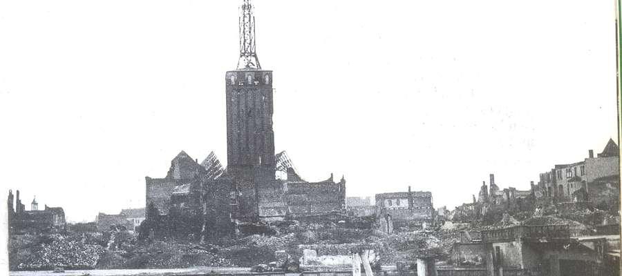 Tak wyglądało Stare Miasto w Elblągu trzynaście lat po wojnie, dokładnie w 1953 roku