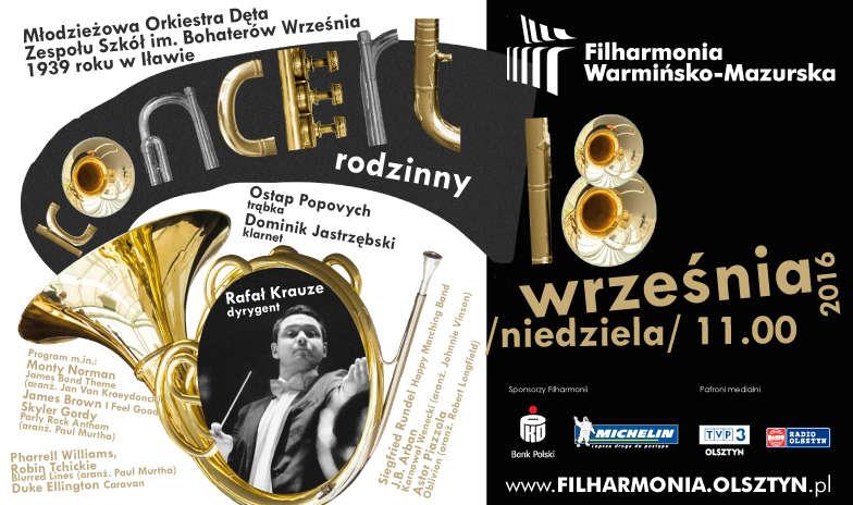 Koncert rodzinny w Olsztynie. Wystąpi jedna z najbardziej znanych w Polsce orkiestr dętych  - full image