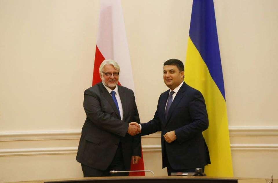 Minister Waszczykowski i premier Ukrainy Wołodymyr Hrojsman - full image