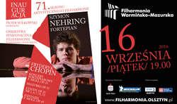 Inauguracja 71 sezonu artystycznego w Warmińsko- Mazurskiej Filharmonii