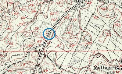 Fragment mapy agronomicznej z 1897 r.