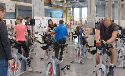 Jumping fitness i jazda na rowerze. Ruch i zdrowie!
