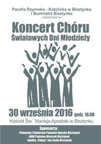 Część chóru ŚDM wystąpi w kościele w Bisztynku.