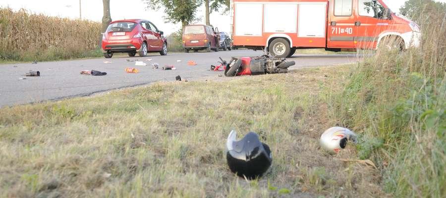Na miejscu wypadku pojawiły się służby