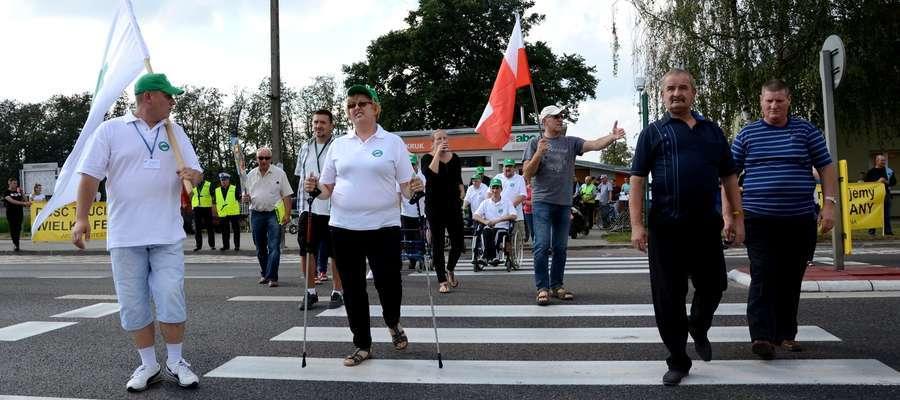 """W proteście na krajowej """"siódemce"""" wzięli udział mieszkańcy powiatu żuromińskiego"""