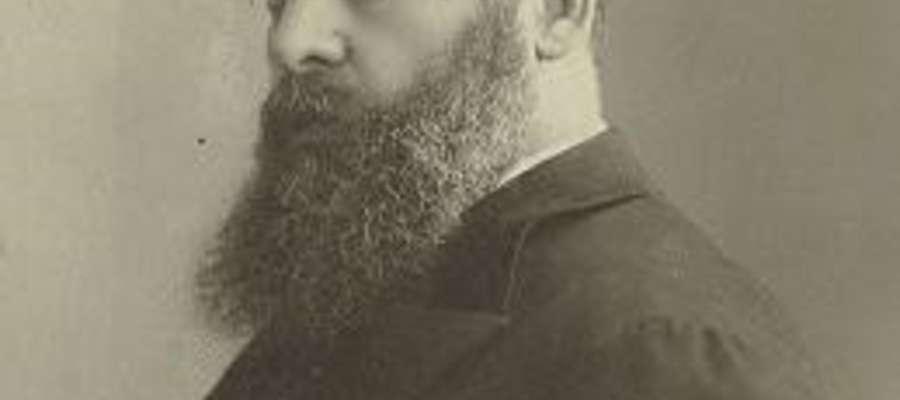 Fot. Jakub Gordin(ur.1 maja1853wMyrhorodzie- zm.11 czerwca1909wNowym Jorku),  dramatopisarz żydowski tworzący w językujidysz.  Napisał i przetłumaczył z innych języków ponad 100 dramatów.