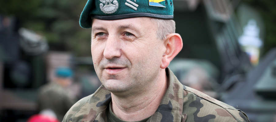 płk dypl. Jarosław Gromadziński Dowódca 15. Giżyckiej Brygady Zmechanizowanej