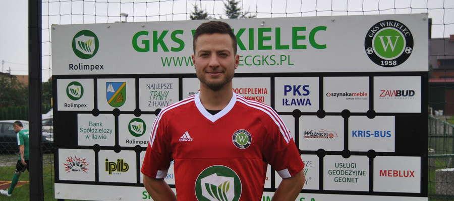 Jacek Malanowski, bramkarz GKS-u Wikielec, zachował w Mrągowie czyste konto