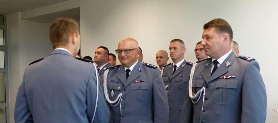 Nowy komendant gołdapskiej jednostki insp. Robert Marciniak (pierwszy z prawej).