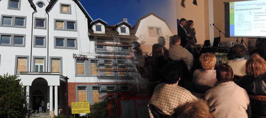 Orzyscy włodarze zaprezentowali plan przeistoczenia Hotelu Mazury w Ratusz.