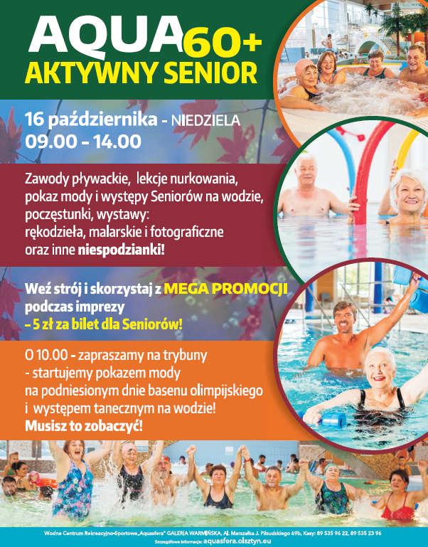 Aktywny senior w olsztyńskiej Aquasferze - sprawdź program! - full image