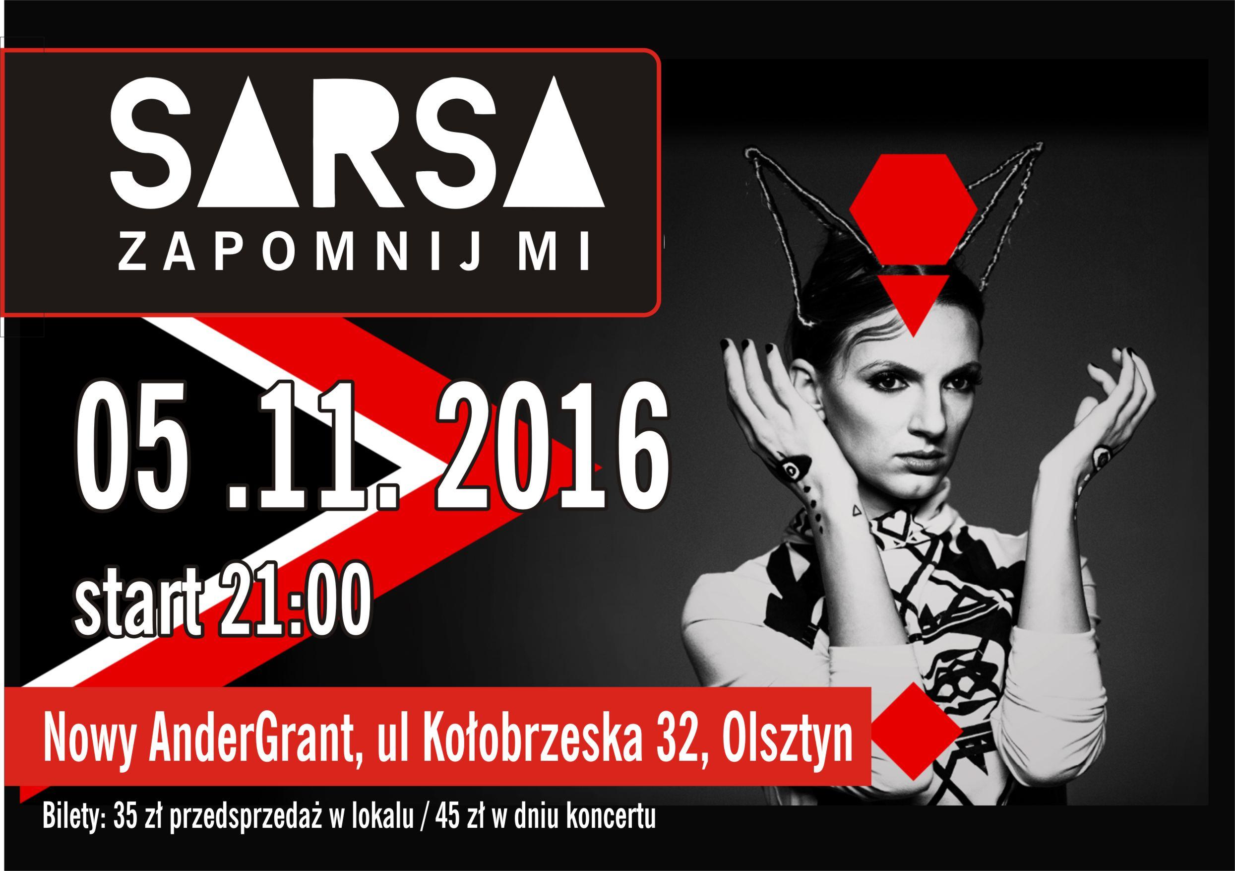 Sarsa wystąpi w Olsztynie