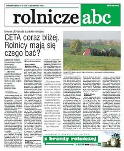 Rolnicze ABC - październik 2016