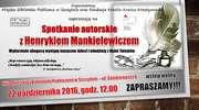 Spotkanie autorskie z Henrykiem Mankielewiczem
