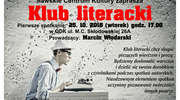 Klub Literacki zaprasza