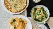 Przepis na obiad- Naleśniki ze szpinakiem, serem żółtym i sosem serowo - śmietanowym