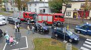 Stłuczka trzech samochodów w centrum Iławy. Ucierpiało dziecko [ZDJĘCIA]