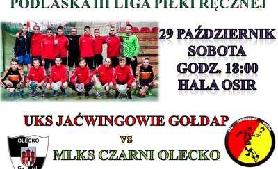 Poważne starcie szczypiornistów w sobotę w Gołdapi