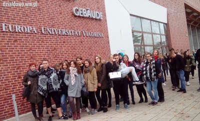 Licealiści z Grunwaldzkiej na uniwersytecie Viadrina