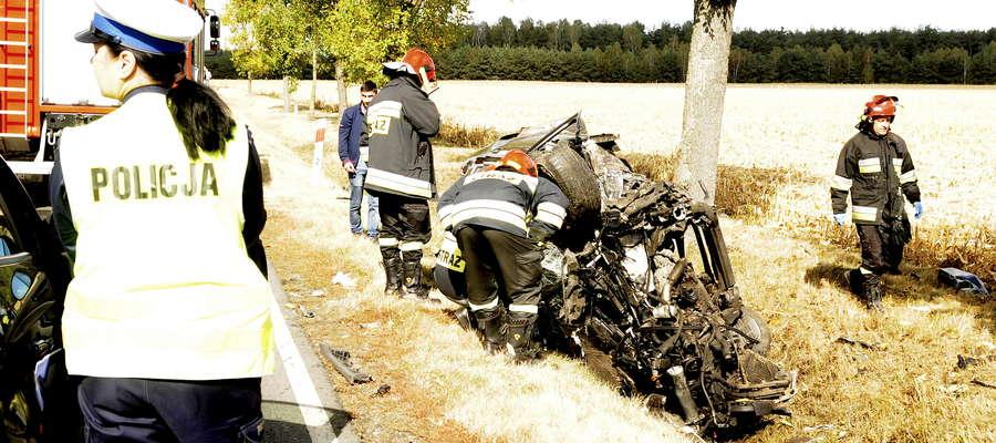 Jesień na drogach powiatu żuromińskiego zaczęła się od groźnego wypadku na Łazach