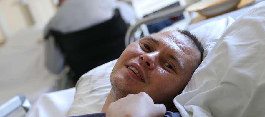Tomasz Szulżycki jest jednym z pacjentów, którym wszczepiono stymulatory w Olsztynie