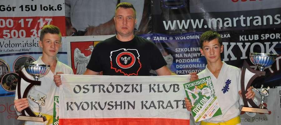 Trener Artur Małż z medalowym duetem na turnieju w Ząbkach