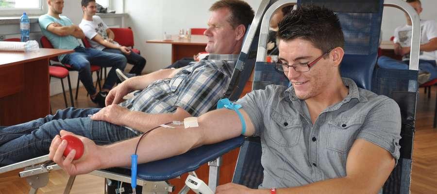 Podczas poboru krwi w nowomiejskiej straży