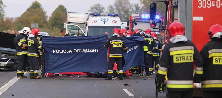 Zdjęcie z miejsca wypadku.