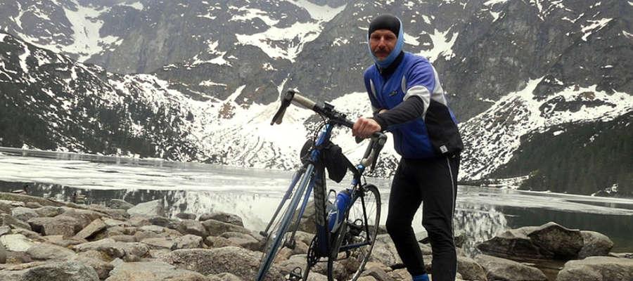 Pasją Roberta Woźniaka od wielu lat jest jazda na rowerze