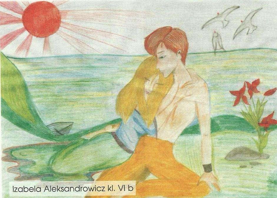 Ilustracje do legend, spisanych przez Wiesława Niesiobędzkiego, wykonali uczniowie Szkoły Podstawowej nr 2 w Iławie. Na zdjęciu rysunek Izabeli Aleksandrowicz z klasy VIB - full image