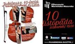 Jubileusz 10-lecia Kwartetu smyczkowego Avista w Olsztynie!