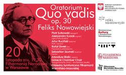 """Filharmonicy warmińsko-mazurscy z """"Quo vadis"""" Feliksa Nowowiejskiego w Filharmonii Narodowej"""
