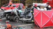 Tragiczny wypadek na DK 16 pod Olsztynem. Kierowca hyundaia nie miał szans