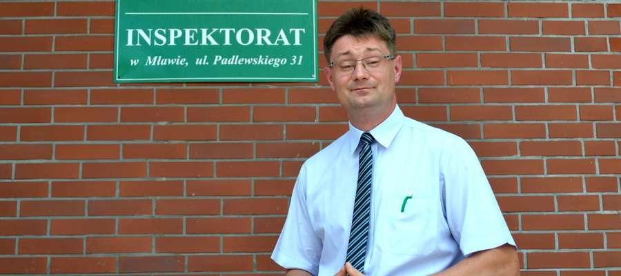 Kierownik inspektoratu ZUS w Mławie Mariusz Brzeziński mówi o kontrolach w firmach