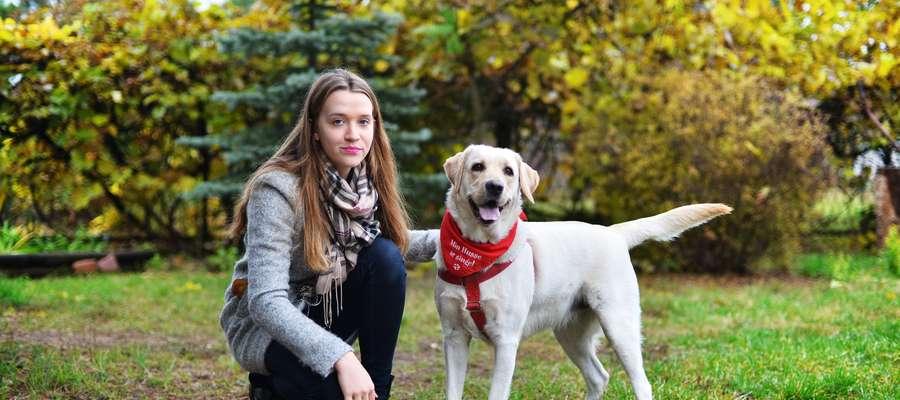 Kaja ze swoją właścicielką Zuzanną z Bieżunia fot. Anna Bonisławska