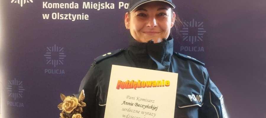 Sposób w jaki podkom. Anna Beczyńska podeszła do prowadzonej sprawy, niewątpliwie zapobiegło rodzinnej tragedii.