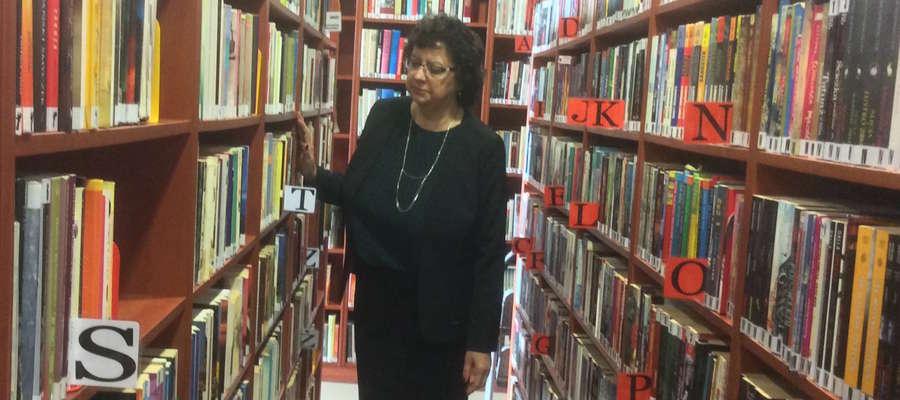 Maria Ćwiklińska, dyrektor Miejskiej Biblioteki w Suszu