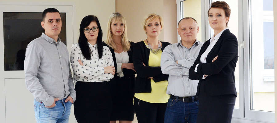 Zespół projektowy, od lewej Marcin Toczek, Daria Szczepańska, Joanna Leśnikowska, Joanna Magierek, Leszek Błaszkowski, Żaneta Jończak