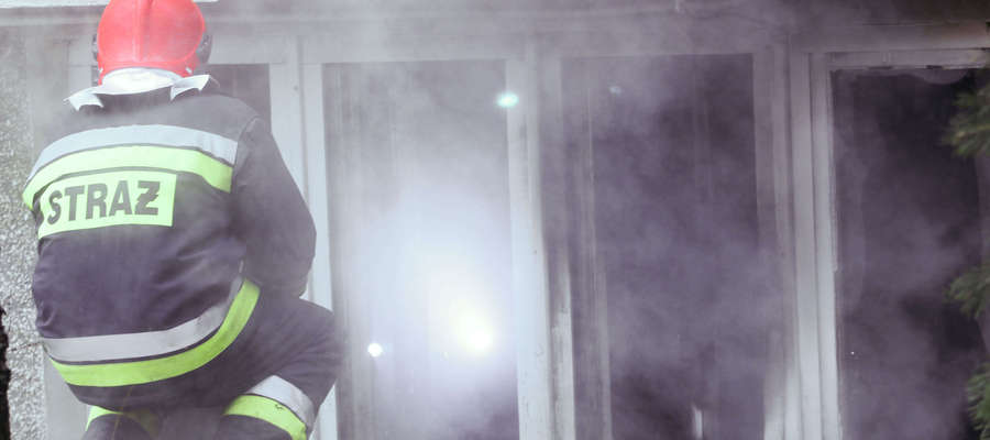 Pożar biura w Gutkowie. Ewakuowano przedszkole