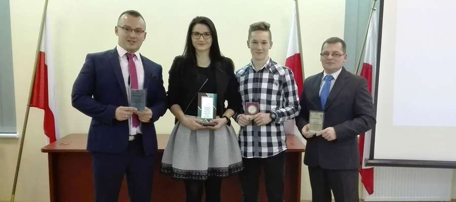 Od lewej: Leszek Kołodziejski, Weronika Mieczkowska, Piotr Kozłowski i Marek Tykarski