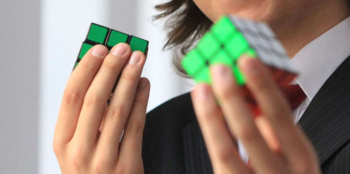 Ogólnopolskie zawody w układaniu Kostki Rubika na czas - full image