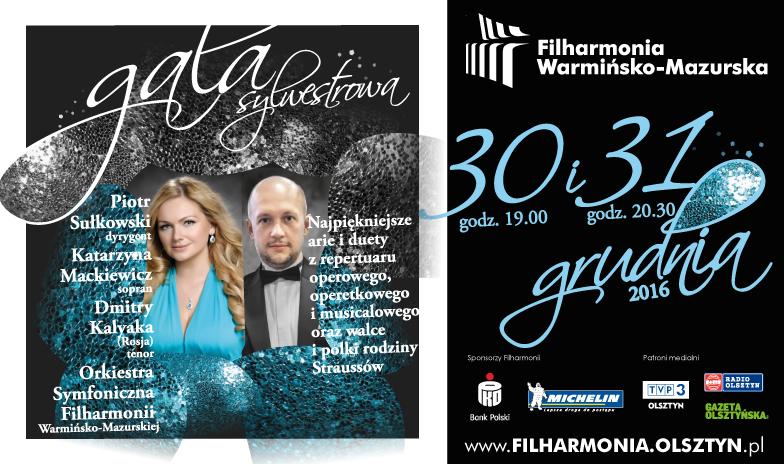 Gala Sylwestrowa w Filharmonii Warmińsko-Mazurskiej
