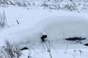 Zgubiła pod śniegiem... samochód