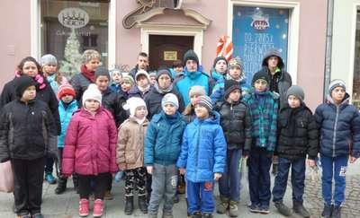Najmłodsi uczniowie SOSW  w Węgorzewie na wycieczce w Gdańsku
