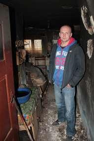 Łukasz Sokoliński w tym miejscu znalazł leżącego 70-letniego pana Franciszka.