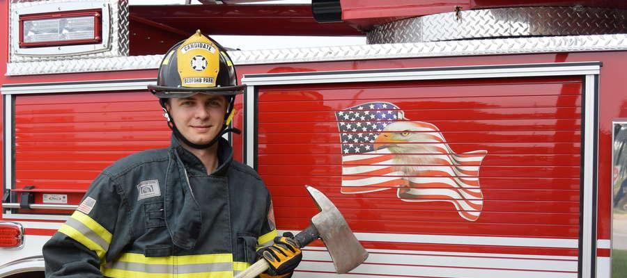 Iławianin Dorian Gabryel wie już, jak wygląda praca strażaka w Chicago