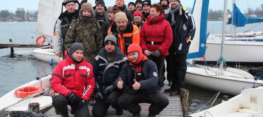 Uczestnicy VI rejsu Pętlą Mazurską