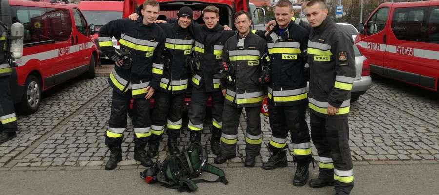 Strażacy z Ostródy i Morąga wystartowali w wielickim turnieju strażaków i ratowników