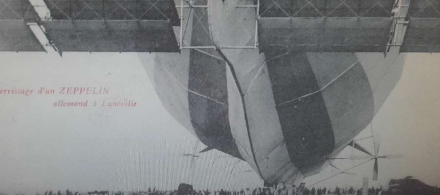 Tył sterowca Z.IV. Zdjęcie zostało zrobione we francuskim Luneville